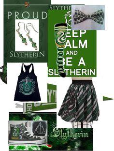 """""""Slytherin :)"""" by taylorpayne-788 on Polyvore"""