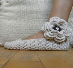 Mary Jane slippers -  crochet  - DIY tutorial - Quick and easy