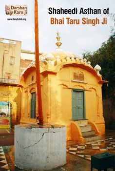 #DarshanKaroJi  Shaheedi Asthan of Bhai Taru Singh Ji  The site of martyrdom of Bhai Taru Sing Ji is located in the Naulakha Bazaar.  The rulers of the time always disliked these compassionate deeds of his.  Read More http://barusahib.org/general/shaheedi-asthan-of-bhai-taru-singh-ji/  Share & Spread!