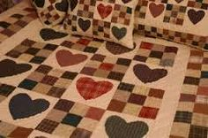 country quilted wallhanging hearts - Google Search