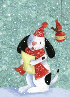 Art Dogs, Pauline Siewert - Carolling Dog