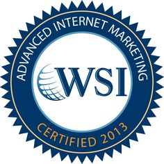 Advanced Internet Marketing Certified. One of only 52 people in the world to have achieved this qualification for 2013 so far, one of only 10 women. See http://www.wsicertified.com/ for details on how this was gained.