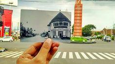 @Regrann from @fan_fin -  Gedung Pensil Simpang Lima Bandung. Gedung ini disebut demikian karena bentuk atapnya mirip seperti ujung sebuah pensil. Gedung ini didirikan pada tahun 1918 dan pernah menjadi kantor Handel Mij. Groote & Scholtz agen Dunlop dan minyak pelumas Shell. Saat ini Gedung Pensil digunakan sebagai kantor dari Danareksa Bandung. - #regrann