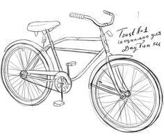 Как нарисовать велосипед карандашом