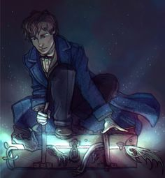 newt scamander by nothing-box
