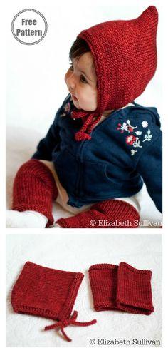 8 Pixie Hat Free Knitting Pattern Pixie Bonnet Hat and Legw. - 8 Pixie Hat Free Knitting Pattern Pixie Bonnet Hat and Legwarmers Free Knittin - Baby Knitting Patterns, Baby Hats Knitting, Knitting For Kids, Free Knitting, Knitting Projects, Knitting Ideas, Knitted Hats Kids, Knit Hats, Bonnet Hat
