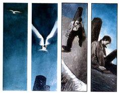 Black Orchid, by Dave McKean 1991 Lorenzo Mattotti, Dave Mckean, Black Orchid, Media Images, Sci Fi Art, Storyboard, Color Inspiration, Comic Art, Illustration