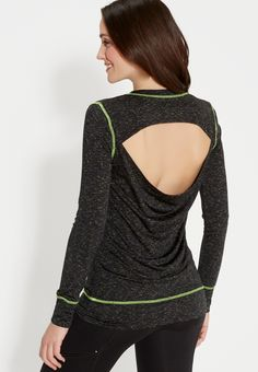spacedye pullover with neon stitching and open back (original price, $29.00) available at #Maurices