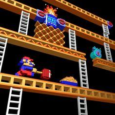 Inside Video Games – Coleção de imagens transforma jogos 8-bits famosos em 3D