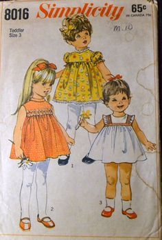 Vintage Sewing Pattern Simplicity 6951 JIFFY Girls' Reversible Dress, Hat, and Panties Size 2 Complete by GoofingOffSewing on Etsy $6