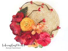 Headpieces & Fascinators - Ministrohhut Fascinator *MATHILDA* Blumen - ein Designerstück von Lebenslust2in1 bei DaWanda