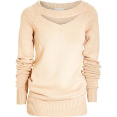 Altuzarra Keyhole Sweater ($349) ❤ liked on Polyvore featuring tops, sweaters, shirts, blusas, women, designer rtw, tops & knits, pink top, collared shirt sweater and pink shirt