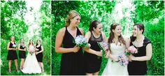 Love the idea of black bridesmaid dresses  Graham &  Alicia // Married at The High Point at St. Peter's