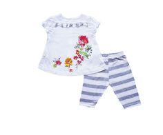 Çiçek Baskılı Taytlı Kız Takım (86881) - Bebek Giyim