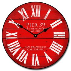 pinned from blank wall clock frei