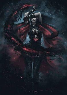 Dark Elf Summoner by Arsinoes on deviantART