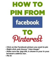 Pin something from Facebook. | 21 Social Media Tips You'll Wish You'd Known Sooner