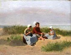 children-knitting-on-the-beach.jpg 500×387 pixels