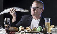 """The best food books of 2013"" Kathryn Hughes   The Guardian, Dec 5th, 2013;  Rich pickings … Heston Blumenthal. Photograph: Matt Turner/Newspix/Rex"