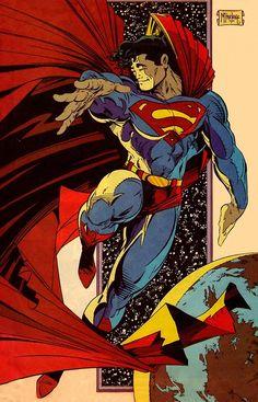 Marvel and DC Comics Images, Memes, Wallpaper and Comic Book Artists, Comic Book Characters, Comic Artist, Comic Character, Comic Books Art, Mundo Superman, Superman Art, Superman Man Of Steel, Superman Stuff