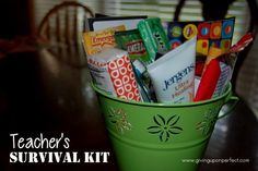45 Ideas for Making a Teacher's Survival Kit