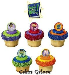 Super Why Cake Cupcake Ring Decoration Toppers 11 $1.99