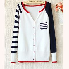 Buy 'Ringnor – Striped-Sleeve Color-Block Cardigan' with Free International Shipping at YesStyle.com. Browse and shop for thousands of Asian fashion items from China and more!