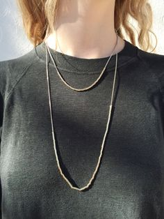 Necklace 1: Helena Short Necklace in Dore ($135.00) | 100% Brass | Length: 18in. Necklace 2: Helena Long Necklace in Dore ($155.00) | 100% Brass | Length: 28in.  Call 1.877.342.6474 to order! @marantstyle