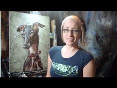 "Lachri Italian Greyhound  oil over acrylic painting  ""how to paint""  ""Time Lapse""  ""Speed Painting"""