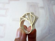 RING sterling silver contemporary jewelry geometric by anapina
