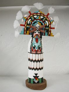Intricately decorated Cloud Man #kachina by #Hopi artist Carlyle Lomakie