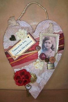 Altered art heart
