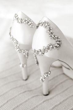 Sparkly Badgley Mischka shoes.