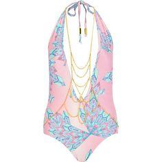Pacha body chain halter neck swimsuit as seen in Fabulous #riverisland