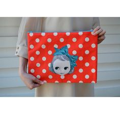 54e51674bc8 Blythe L Flat Pouch- Fashionista Molly and Nelly Dot