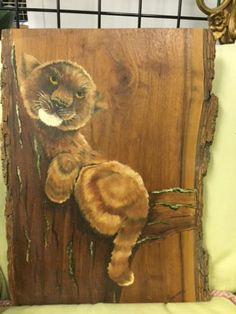 I just adore this little lion cub painted by a Maine woman on a rough board… she was downsizing and moving to Florida and just didn't have enough room to take it with her. Moving To Florida, Lion Cub, Primitive Antiques, Antique Art, Kitsch, Cubs, Folk Art, Maine, Auction