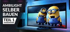Raspberry Pi 2 Ambilight build yourself – instructions, tutorial - Techno Gadgets Merida, Raspberry Projects, Techno Gadgets, Rasberry Pi, Home Technology, Home Entertainment, Minions, Diy And Crafts, Projects To Try