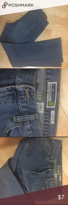 Old Navy Jeans Old Navy Brand Jeans.  Slight fraying of hem on bottom of leg but no other defects or stains. Old Navy Jeans Flare & Wide Leg