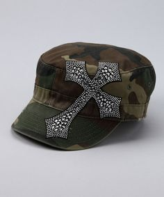 d10b0c360a8 Take a look at this Camo Rhinestone Cross Cadet Cap by Rhinestone Junkie on   zulily