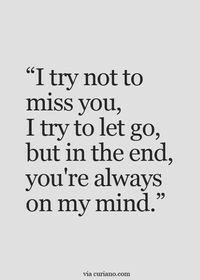 45 Crush Quotes - I try not to miss you, I try to let go, but in the end, you're always on my mind. Having a crush one someone can make you feel like you're walking on air when you're around that special person and these 45 crush quotes hit home. Quotes Deep Feelings, Mood Quotes, Life Quotes, Qoutes, Feeling Quotes, Quotes On Relationships, End Of Relationship Quotes, Breakup Quotes For Guys, Complicated Relationship Quotes