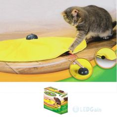 NEW As seen on TV CATS MEOW Moving CAT TOY Undercover Fabric Moving like Mouse