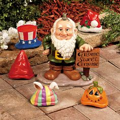 Gnome Greeter with Hats - OrientalTrading.com