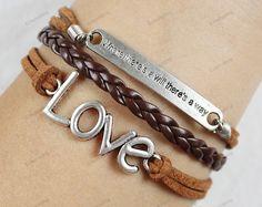 love bracelets leather bracelets charm bracelets  by lifesunshine, $6.99