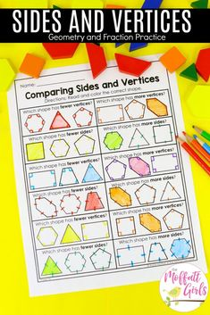 Teach Geometry and Fractions with fun, hands-on activities and worksheets. Make math fun! Geometry Games, Geometry Angles, Teaching Geometry, Geometry Activities, Geometry Worksheets, Hands On Activities, Math Activities, Geometry Art, Sacred Geometry