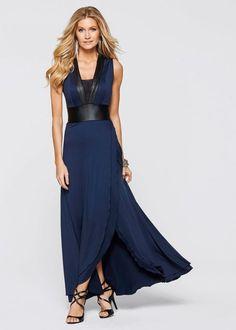 Dark blue / black dress - Boutique BODYFLIRT now in the bonprix.d online store . Black And Blue Dress, Black White Red, Dark Blue, Blue Evening Dresses, Beach Dresses, Mode Glamour, Flirt, Bridesmaid Dresses, Wedding Dresses