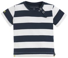 Striped boys' shirt by Noppies. Made of 95% cotton and 5% elastane. The short-sleeved shirt has two buttons at the neck, making it easy to put on and take off the shirt. #noppies #babyfashion #baby #boys #girls #cutebaby www.noppies.com