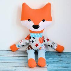 Sprytny lisek - Olek - 42 cm #fox #sew #toy #sewtoy #kidstyle Sewing Toys, Kid Styles, Dinosaur Stuffed Animal, Babe, Fox, Animals, Animaux, Animales, Foxes
