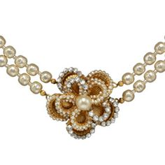 Throughout her influential career, designer Miriam Haskell (American, 1899–1981) created some of the most elegant, high-quality costume jewelry in the U.S. Today, her creations are still made entirely by hand. At the heart of each piece is a filigree backing. The tight embroidery of each bead, crystal, and pearl, with no sign of the base underneath, is characteristic of Miriam Haskell jewelry. Colors and materials are chosen for their sophistication, often in asymmetrical compositions.