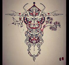 Bull tattoo design