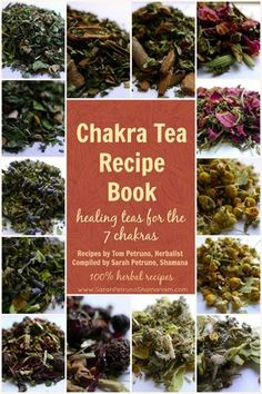 Our in-house, inner circle chakra healing herbal tea recipes - now available to you to make at home!  Get recipes to make your own healing chakra teas for each of the 7 chakras!